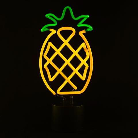 Pineapple Neon Desk Light
