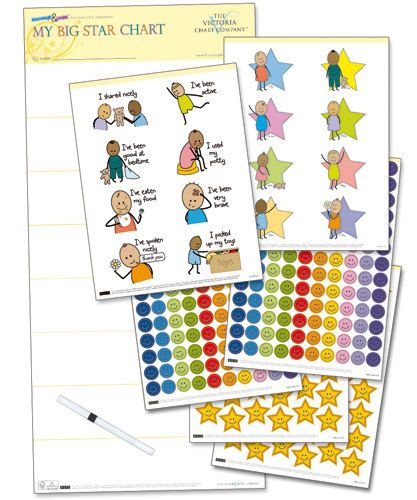 A large reward chart and re-usable stickers to help encourage positive behavior, achievement and development in children from 1 year. Ideal for supporting behavioral issues associated with toddlers such as potty training and sharing nicely.    $18.99