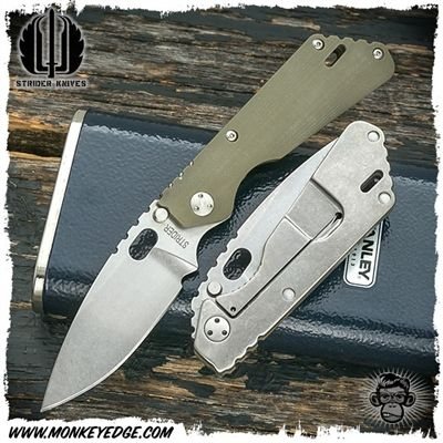 Strider Knives Folder: PT Concealed Carry Stonewashed/Stonewashed