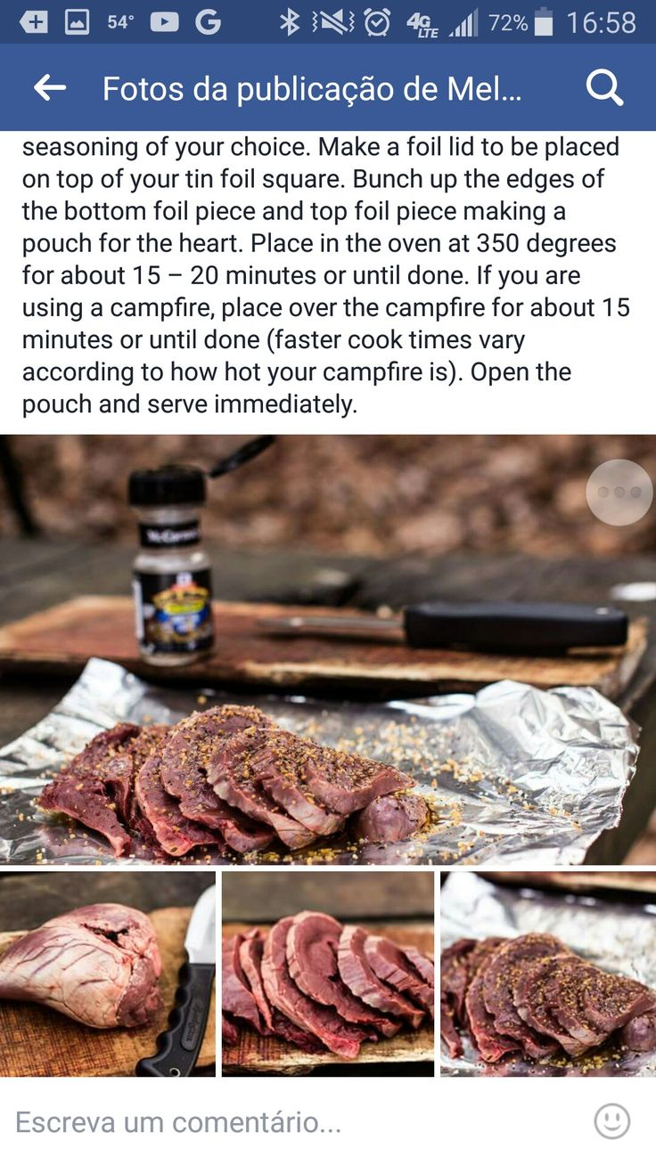 Easy Venison Heart Recipe €� Whitetail Deer One Of My Favorite Things To Eat  Is Deer