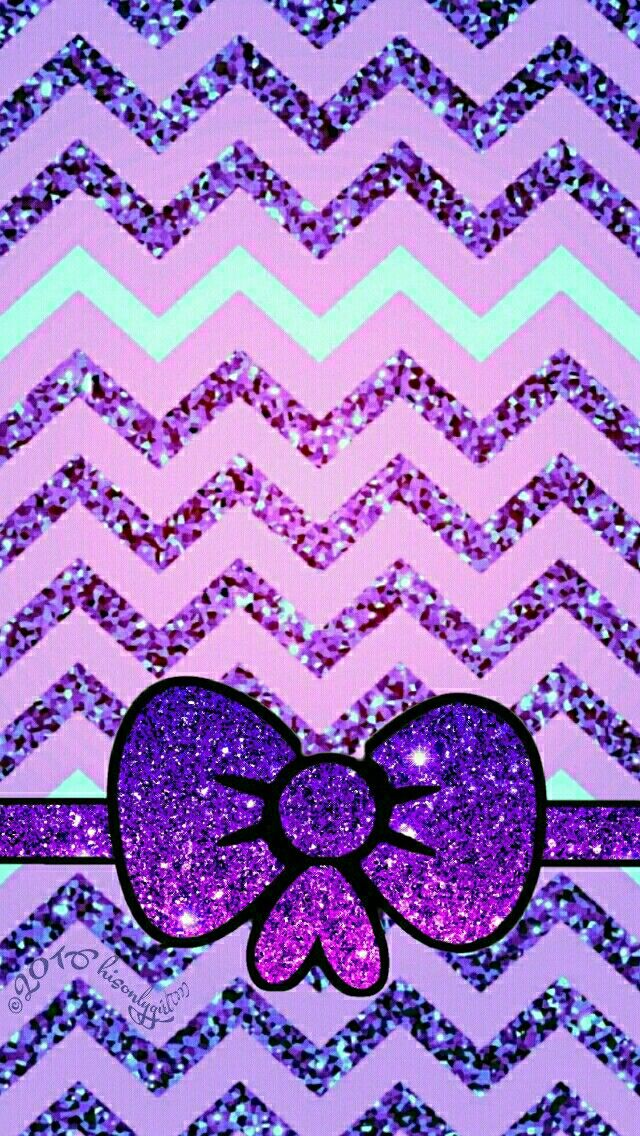 Cute purple & mint glitter iPhone/Android wallpaper I
