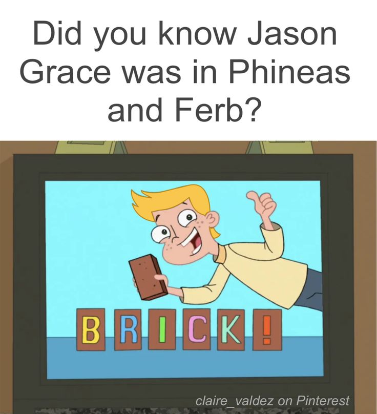 Did you know Jason Grace was in Phineas and Ferb | brick jokes