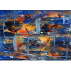 Available on - http://www.artzyme.com/buy-paintings-online/abstracts/idyllic-boats-ii/