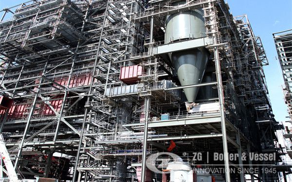 How does circulating fluidized bed boiler works