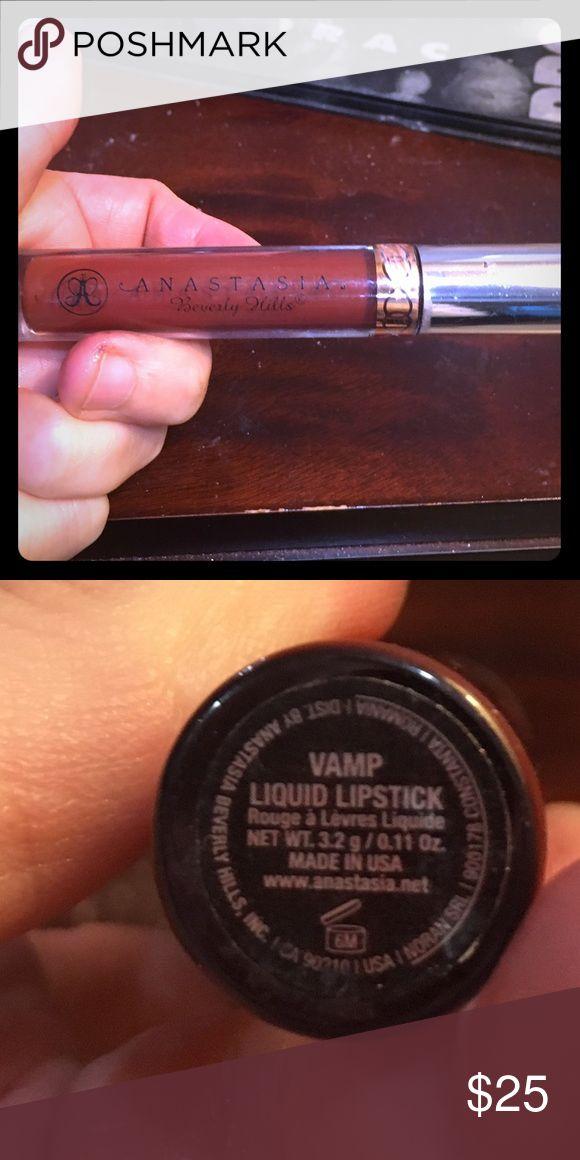 Anastasia VAMP color lip stain!!! It's amazing Anastasia VAMP color lip stain!!! It's amazing. Used once!! Anastasia Beverly Hills Makeup Lipstick