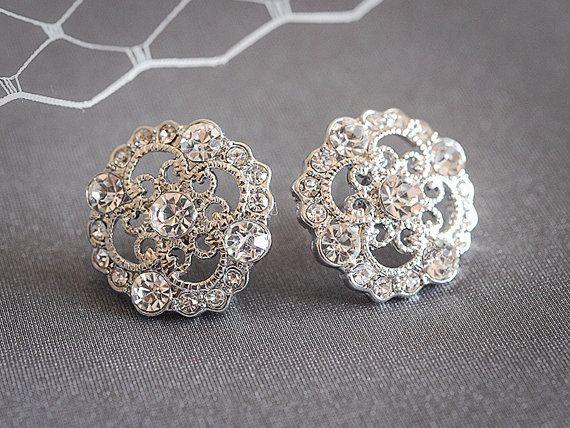 Vintage Style Wedding Earrings Crystal von GlamorousBijoux auf Etsy