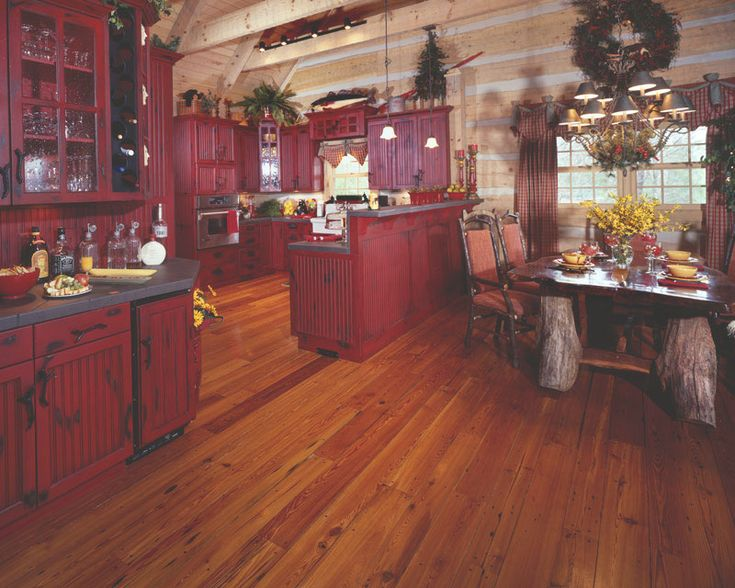 I am really starting to like all the red kitchen cabinets I am seeing!