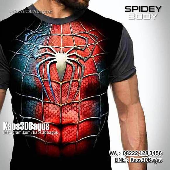 Kaos SPIDERMAN, Kaos Kostum Spiderman, Kaos3D Gambar Spiderman, Kaos Karakter, https://kaos3dbagus.wordpress.com, WA : 08222 128 3456, LINE : Kaos3DBagus