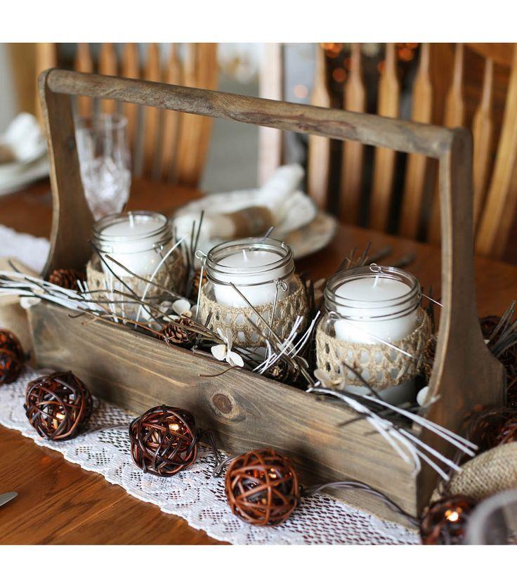 Rustic Winter Centerpiece   Rustic Centerpiece Ideas from