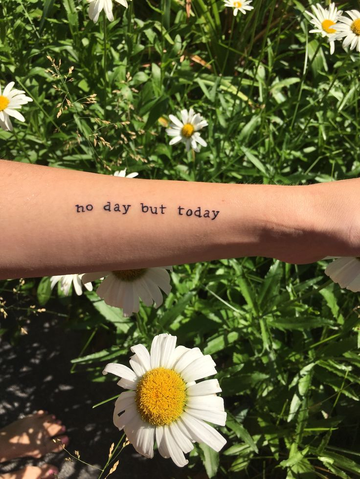 My new tattoo! #nodaybuttoday #rent #tattoo #typewriter