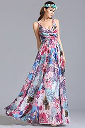 eDressit Vestido Estampado Corte V Profundo para Verano (07151668)