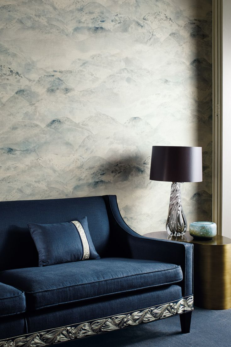 Sansui from the Zoffany Akaishi wallpaper collection.