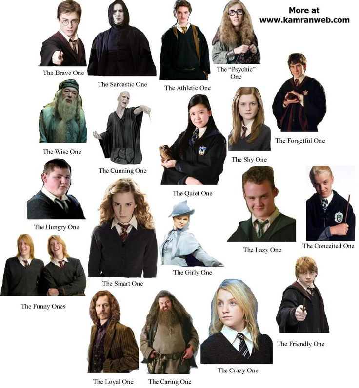 гарри поттер все герои и их названия стоит сказать