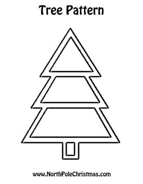 christmas tree pattern  christmas tree template