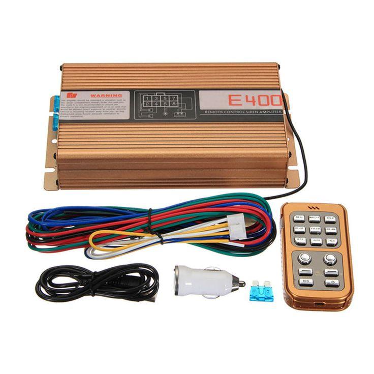 400W 8 Sounds Loud Warning Alarm Police Siren Controlller Horn PA Speaker MIC System