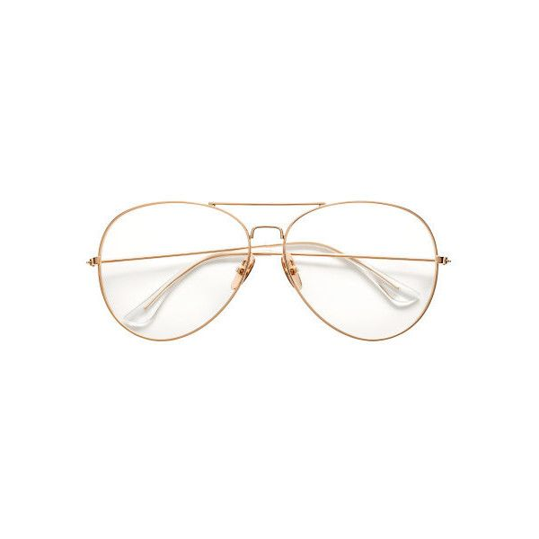 Glasses $12.99 ($13) ❤ liked on Polyvore featuring accessories, eyewear, eyeglasses, lens glasses, clear aviators, aviator glasses, metal frame glasses and aviator eyeglasses