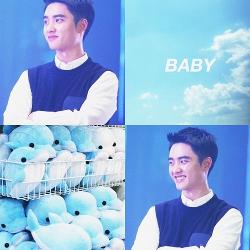 #Dyo #Squishy #Kyungsoo #DO #Aesthetic #Blue #PastelBlue