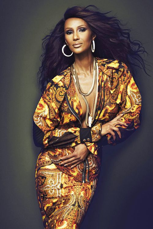 "Iman Mohamed Abdulmajid (Somali: Imaan Maxamed Cabdimajiid, Arabic: ايمان محمد عبد المجيد‎) born 25 July 1955, professionally known as Iman (""faith"" in Arabic), is a Somali-American fashion model, actress and entrepreneur. A pioneer in the field of ethnic cosmetics, she is also noted for her charitable work."