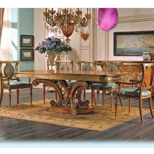 French Antique Big Dining Table And Chairs 0302 In 2020 Dining