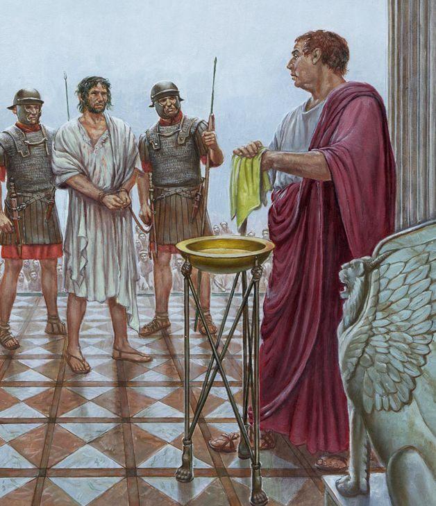 Pontius Pilate washing his hands by Michael Welply | Illustration  historique, Art historique, Rome antique