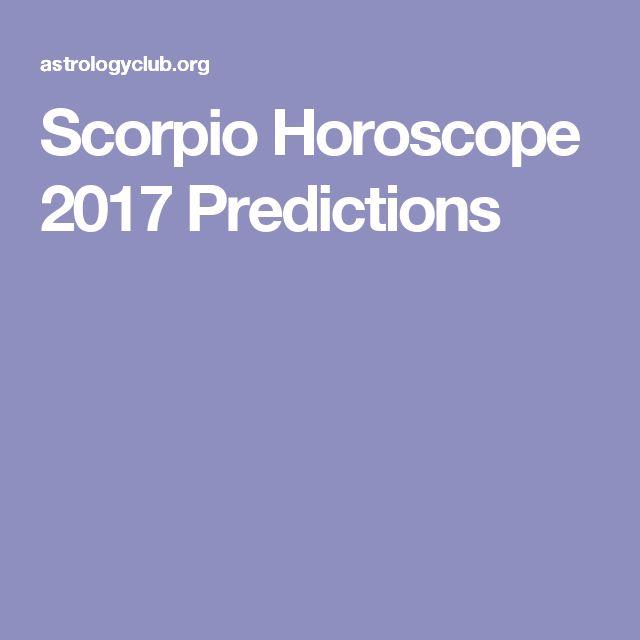 Scorpio Horoscope 2017 Predictions
