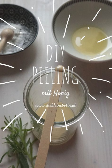Ein einfaches und antibakterielles Peeling kann man mit Bio-Honig und Lavendelöl herstellen!