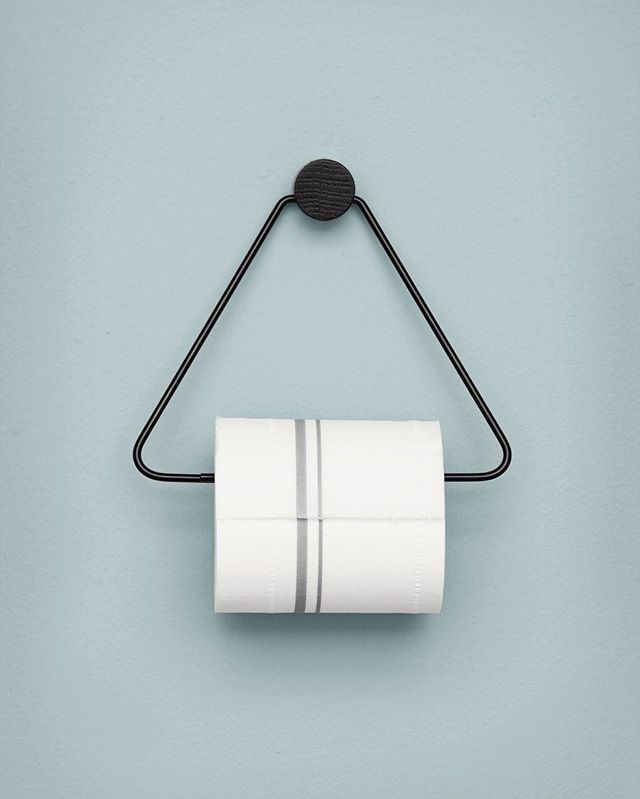 // OUR FAVE ;) The Black Tie @fermliving TP Holder without the Black Tie price tag, is back in stock :) AND there's a matching towel holder too ...Scandi's got your back kids ;) Link in profile. Team DS. X #designstuff #danishdesign #scandinavian #scandinaviandesign #scandistyle #designcred #bathroom #bathroomhardware #bathroomdesign #bathroominspiration #homewares #fermliving #backinstock #wontbreakthebank