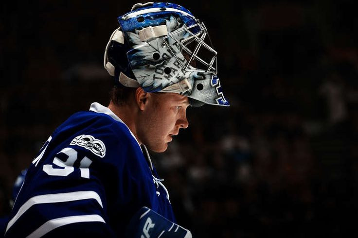 TORONTO, ON - JANUARY 7: Frederik Andersen #31 of the Toronto Maple Leafs warms up before the game against the Montreal Canadiens at the Air Canada Centre on January 7, 2017 in Toronto, Ontario, Canada. (Photo by Kevin Sousa/NHLI via Getty Images)