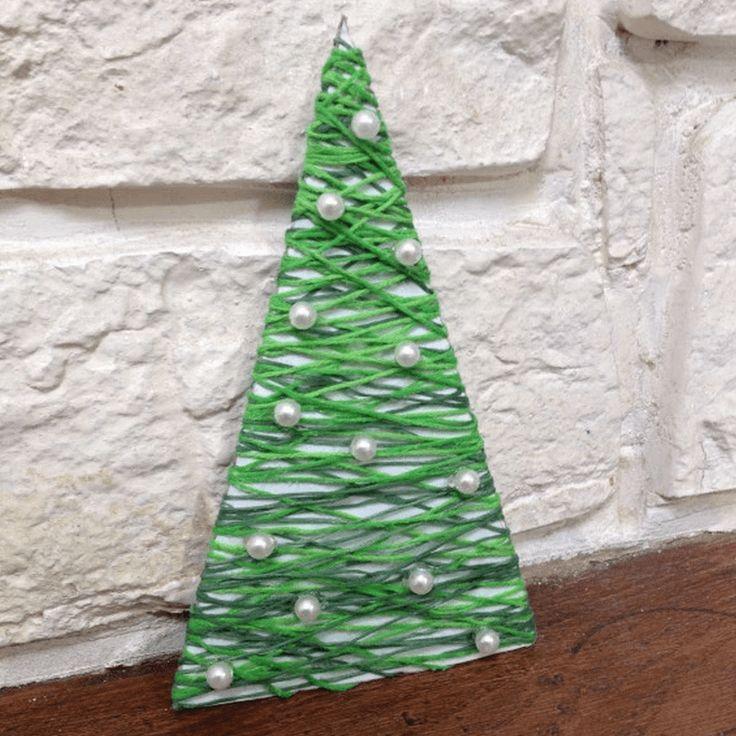 Sapin de Noël en fil ~ Ma maman créative | Mooka, le quotidien du DIY
