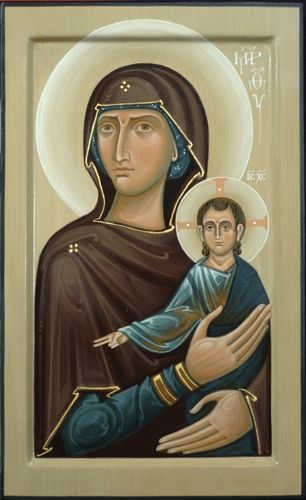 Icon of Holy Virgin Mary With Christ Child. 2011