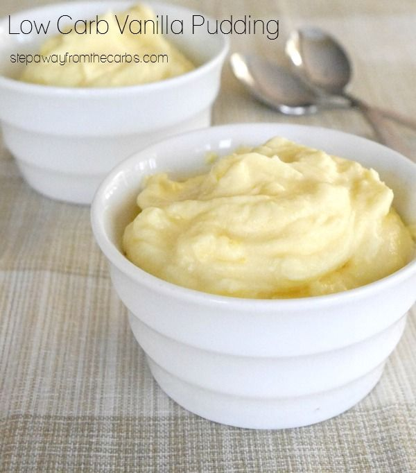 Low Carb Vanilla Pudding - sugar free recipe with just two ingredients!