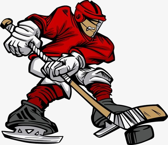 Hockey Player Vector Cartoon Puck Athlete Png Transparent Clipart Image And Psd File For Free Download Hockey Hockey Players Ice Hockey