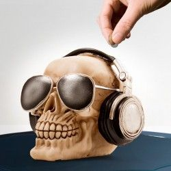 Skull with Sunglasses Money Box