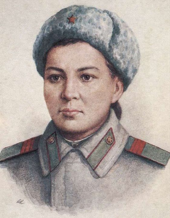 Имя пулеметчицы девушки казашки героя советского союза