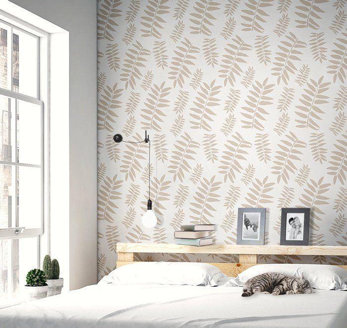 StenCilit - Botanica Scandinavian wall stencil #wall #decoration #interior #diy #sisustusidea #sisusta #sisustaminen #tapetointi #walldecor