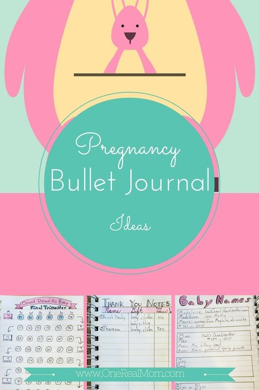 Pregnancy Bullet Journal Ideas! Count Down to Baby and more with pictures.