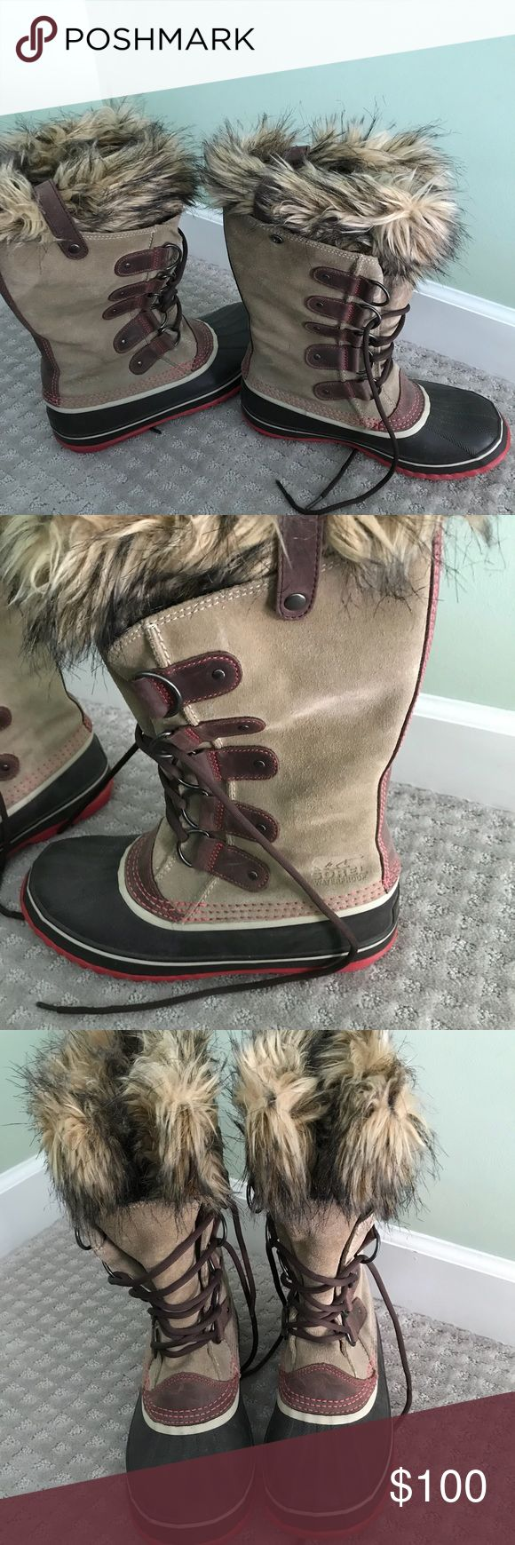 Sorel Joan of Arc Boot Sorel suede and waterproof Joan of Arc boot (worn 2x) Sorel Shoes Winter & Rain Boots
