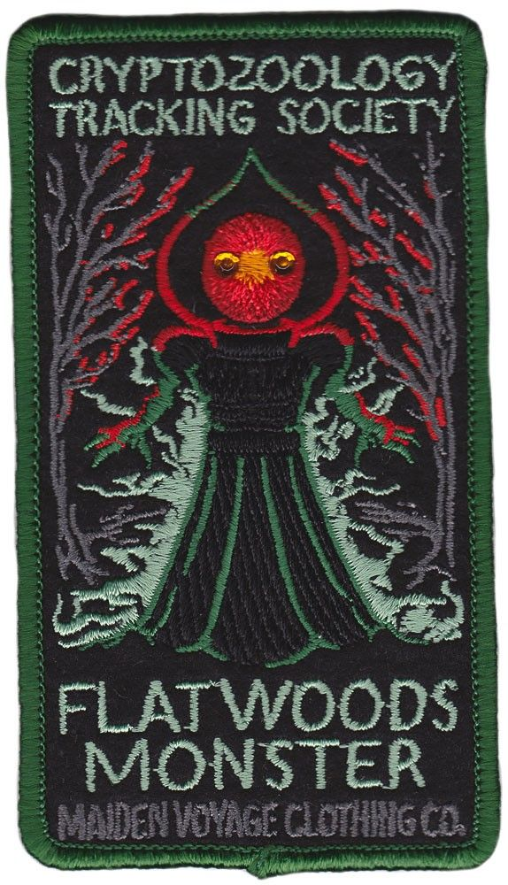 MAIDEN VOYAGE FLATWOODS MONSTER PATCH $6.00 #maidenvoyage #patch #cryprozoology #flatwoodsmonster