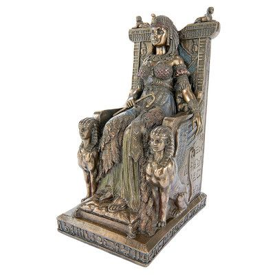Design Toscano Queen Cleopatra on the Egyptian Throne Statue
