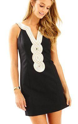Valli Shift Dress-Black: $198