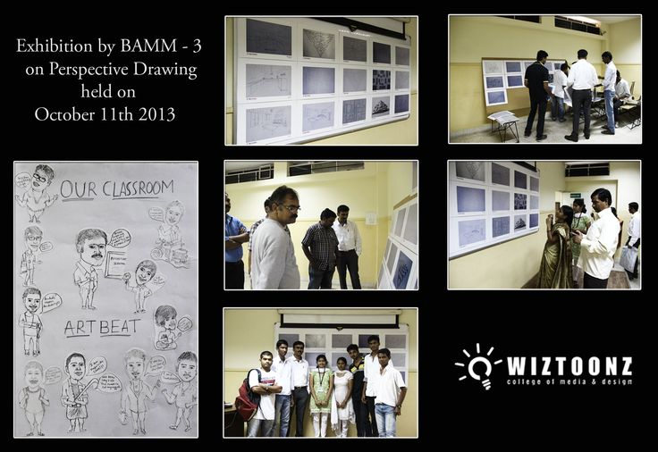 Exhibition by B.A – 03 batch Students – on Perspective Drawings, held on 11th Oct-2013  #Art