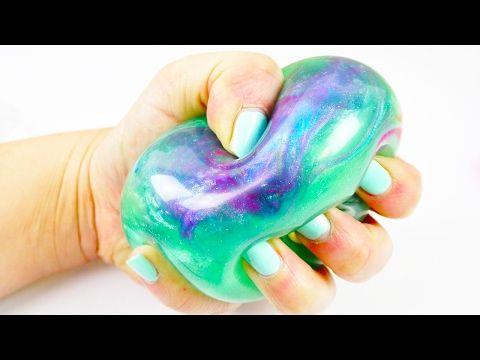 GALAXY Antistressball | Mega schöner Schleim Ball mit super viel Glitzer | DIY Idee - YouTube