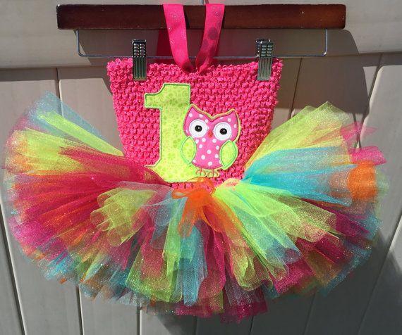 Owl First Birthday Baby Tutu Baby Tutu Dress by PeekBoutiqueBaby