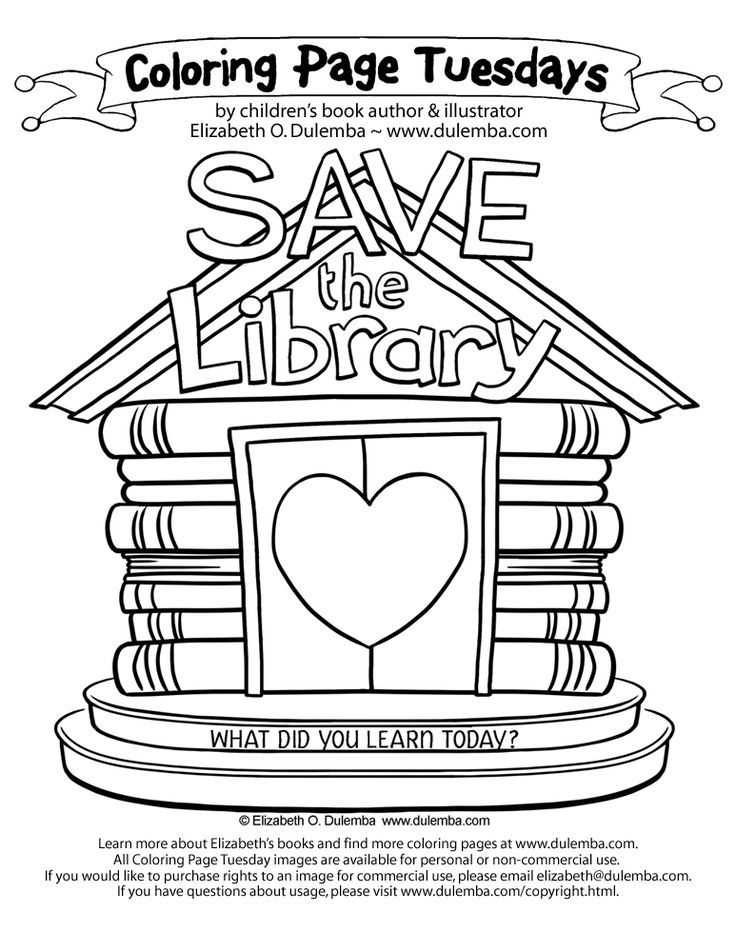coloring pages of library books - photo#42