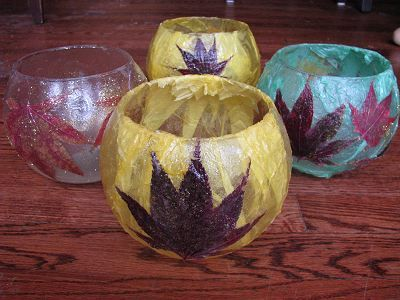 Pressed leaf or flower candle lantern-- Handmade Christmas Gift | Naturally Educational