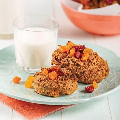 Galettes canneberges-abricots - Recettes - Cuisine et nutrition - Pratico Pratique