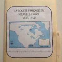 Lapbook / Cahier inetractif / Univers social / Nouvelle-France 1645 / 4e année