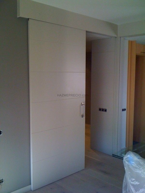 Puertas correderas blancas puerta pinterest puertas - Puertas blancas ...