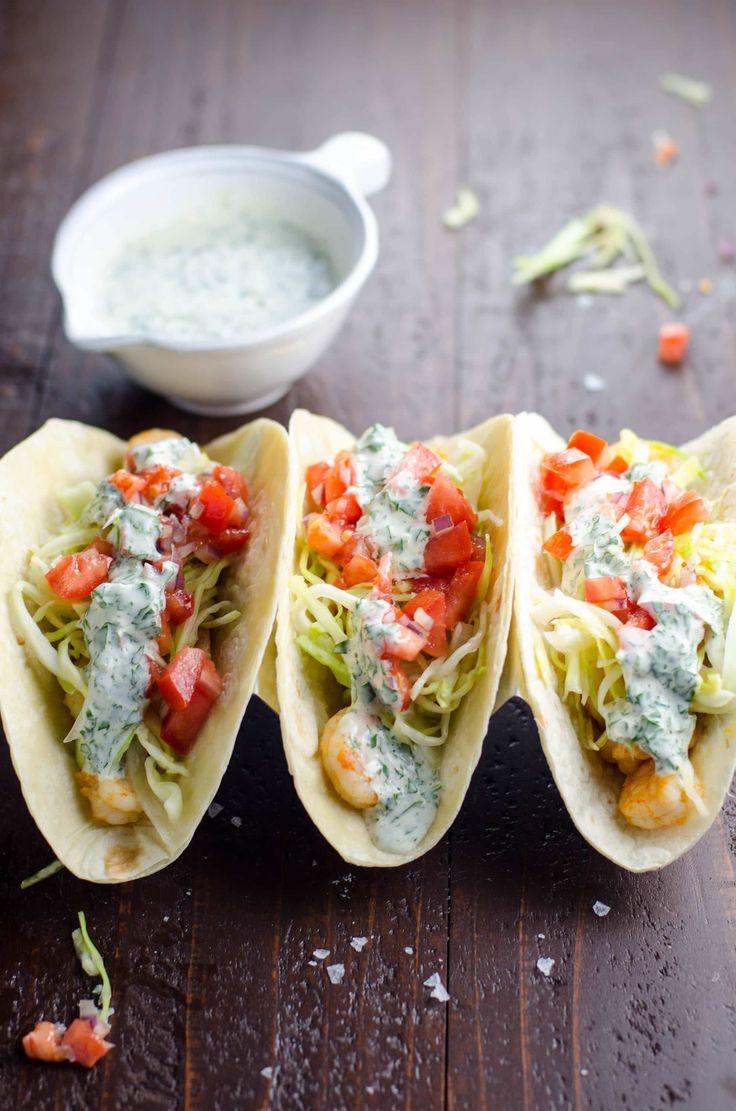 Garlic Shrimp Tacos (inspired by Surf Taco) | Umami Girl