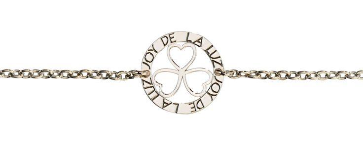 Joy de la Luz   Silver bracelet 3hearts silver  €34,95